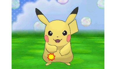 Pikachu in Pokemon XY Pokemon Amie feature